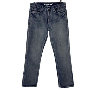 Flypaper Blue Straight Leg Jeans 32x30